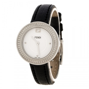 Fendi White Stainless Steel My Way 35000S Women's Wristwatch 28 mm