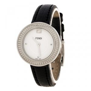 Fendi White Stainless Steel My Way 35000S Women's Wristwatch 28 mm