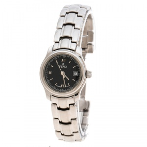 Fendi Black Stainless Steel 210L Women's Wristwatch 26 mm