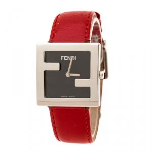 Fendi Black Stainless Steel 4000L Women's Wristwatch 31 mm