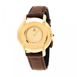 Fendi Gold Plated 400G Women's Wristwatch 36 mm