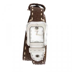 Fendi Mother of Pearl Stainless Steel B.Fendi 3800L Women's Wristwatch 23 mm