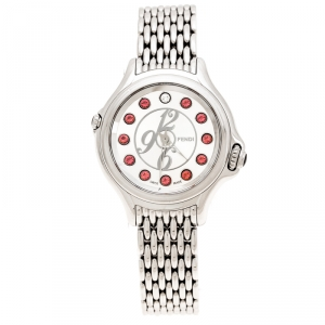 Fendi Silver Stainless Steel Crazy Carats 10500L Women's Wristwatch 33 mm