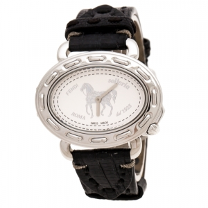 Fendi Silver White Stainless Steel Selleria 8300M Women's Wristwatch 40 mm