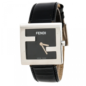 Fendi Black Stainless Steel 4000L Women's Wristwatch 31MM