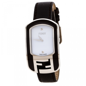 Fendi White Stainless Steel Chameleon Women's Wristwatch 29 MM