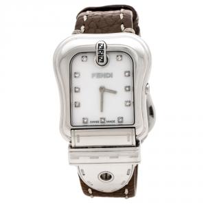 ساعة يد نسائية فندي بي.فندي 3800G صدف و ستانلس ستيل و ألماس 33 مم