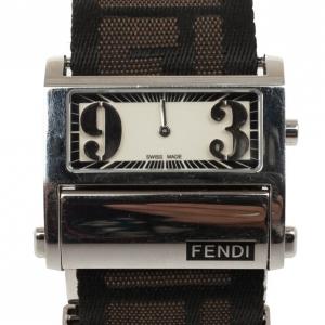 Fendi Cream Zip Code Womens Wristwatch 40 MM