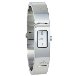Fendi Silver Stainless Steel 3300L Bangle Women's Wristwatch 13 mm