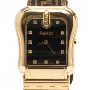Fendi Black Stainless Steel Classic Women's Wristwatch 32MM
