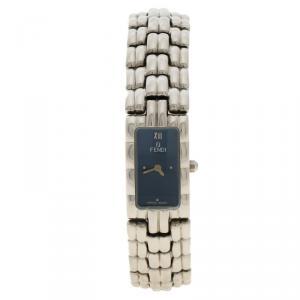 Fendi Blue Stainless Steel 660L Women's Wristwatch 14MM
