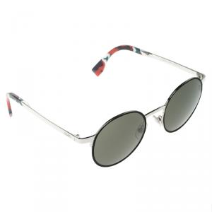 Fendi Black/Silver FF0090/S Round Sunglasses