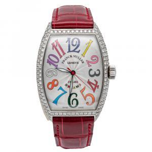 Franck Muller White Color Dreams Steel & Diamond Automatic Women's Wristwatch 31 MM
