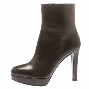 Fratelli Rossetti Brown Leather Platform Ankle Boots Size 39