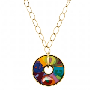 Frey Wille Ode to the joy of life Endless Love Fire Enamel Pendant Necklace