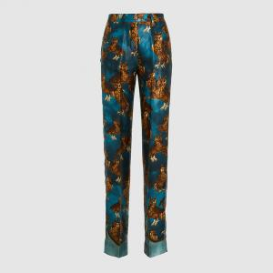 F.R.S For Restless Sleepers Blue Owl Print Straight Leg Trousers Size M