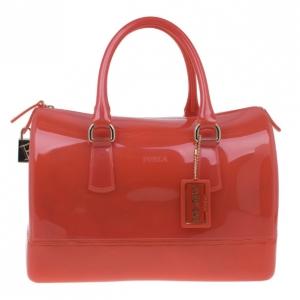 Furla Red Gloss PVC Candy Satchel
