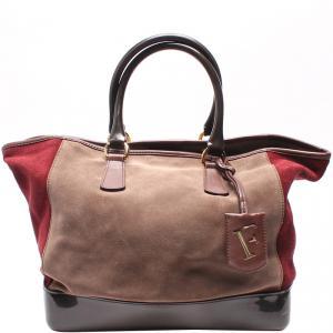 Furla Bi-Color Leather Everyday Bag