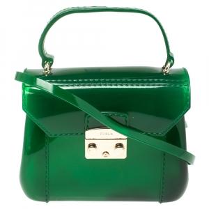 Furla Green Rubber Candy Bon Bon Crossbody Bag