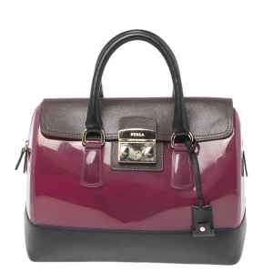 Furla Tri Color Rubber and Leather Candy Satchel