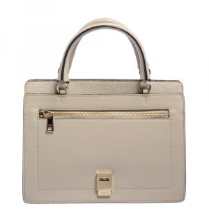 Furla Beige Leather Like Top Handle Bag