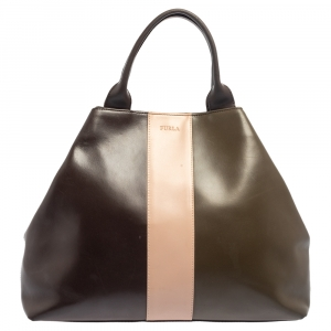 Furla Tri Color Leather Tote