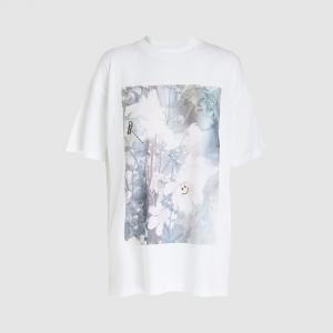 Ganni White Davis Flower Print Graphic T-shirt M/L