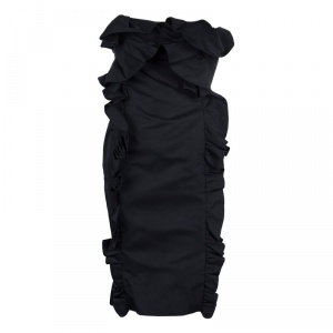 Giambattista Valli Black Ruffle Dress XXS used
