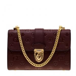 Gianfranco Ferre Red Leather Shoulder Bag