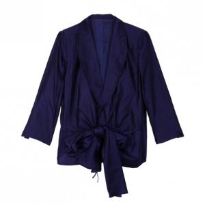 Gianfranco Ferre Purple Wrap Blazer Jacket XL
