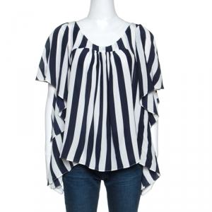 Gianfranco Ferre Bicolor Striped Silk Blouse M