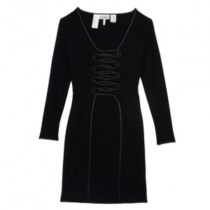Gianfranco Ferre Black Wool Dress