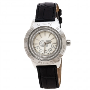 GF Ferre Silver Stainless Steel GFSS3080 Unisex Wristwatch 38 mm