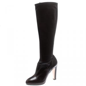 Gianvito Rossi Brown Leather Knee High Boots Size 37 -