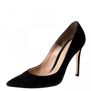 Gianvito Rossi Black Suede Pointed Toe Pumps Size 36