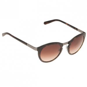 Giorgio Armani Brown Phantos Round Sunglasses