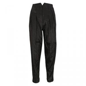 Giorgio Armani Brown Textured High Waist Pants S