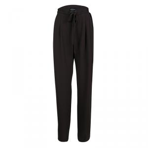Giorgio Armani Brown Drawstring Detail Coulisse Trousers M