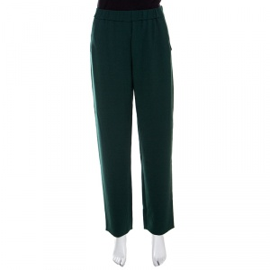 Giorgio Armani Green Tailored Trousers M