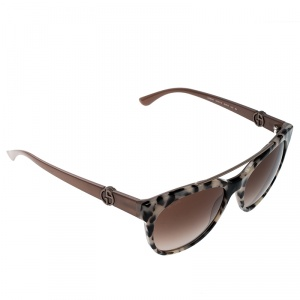 Giorgio Armani Brown Leopard/Brown Gradient AR8050 Wayfarer Sunglasses