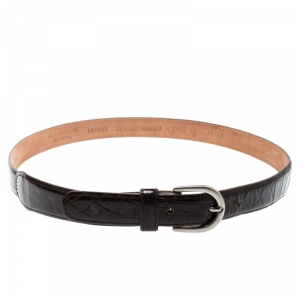 Giorgio Armani Brown Leather Belt 71 CM