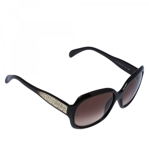Giorgio Armani Brown Havana/ Brown Gradient GA 845/S Square Sunglasses