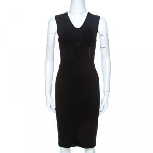 Giorgio Armani Black Knit Cutout Detail Sheath Dress S - used