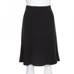 Giorgio Armani Black Crepe A Line Short Skirt M
