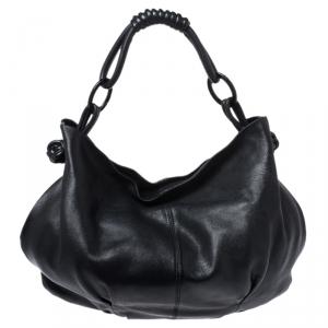 Giorgio Armani Black Leather Hobo