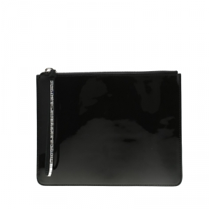 Giuseppe Zanotti Black Patent Leather Mergery Clutch