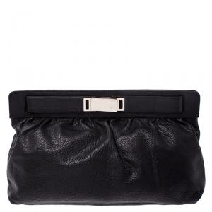 Giuseppe Zanotti Black Leather Clutch