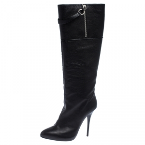 Giuseppe Zanotti Black Leather knee Length Boots Size 40 - used