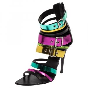 Giuseppe Zanotti Multicolor Metallic Patent Leather Sandals Size 36 - used