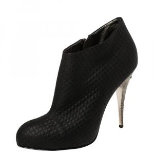Giuseppe Zanotti Black Fabric Ankle Boots Size 38 - used
